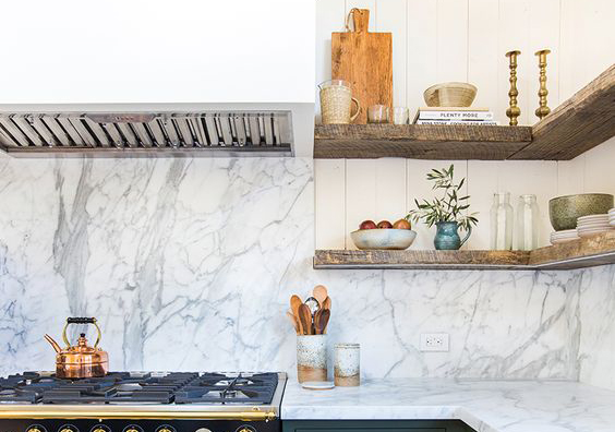 Cuisine marbre champêtre